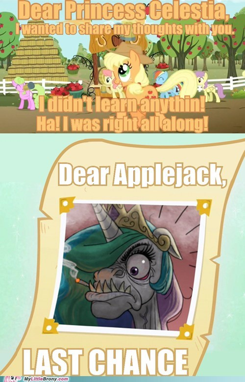 applejack,letter to celestia
