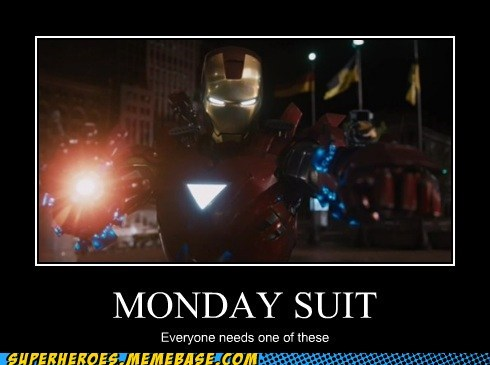 bad day iron man suit monday