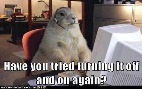 groundhogs,have you tried turning it off and on again,it,Office,computer,Prairie Dogs