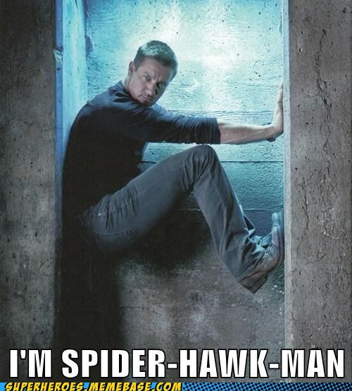 Spider-Man climbing concrete hawkeye - 6830184192