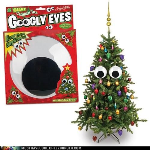 christmas tree decoration googly eyes goofy - 6830224640