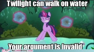 twilight sparkle,jesus sparkle,walk on water