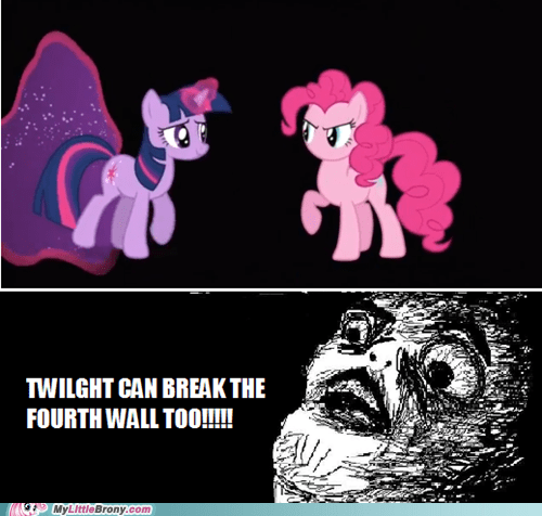 twilight sparkle,4th wall,pinkie pie