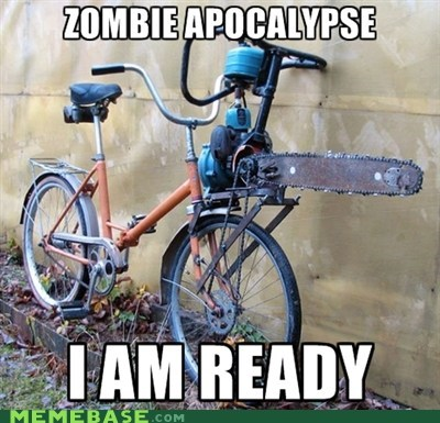 chainsaw bike,wtf,zombie apocalypse