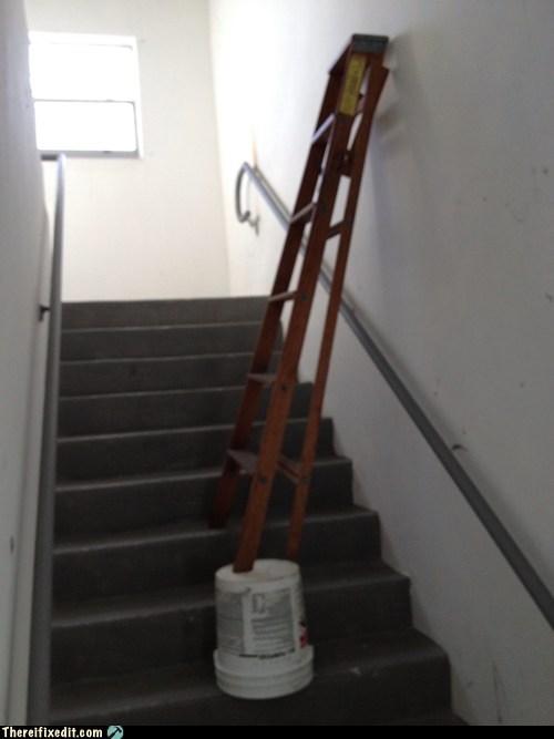 ladder stairway bucket step ladder - 6831199744