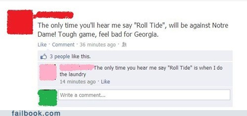 laundry,notre dame,roll tide,bcs national championship,Alabama,college football,Georgia