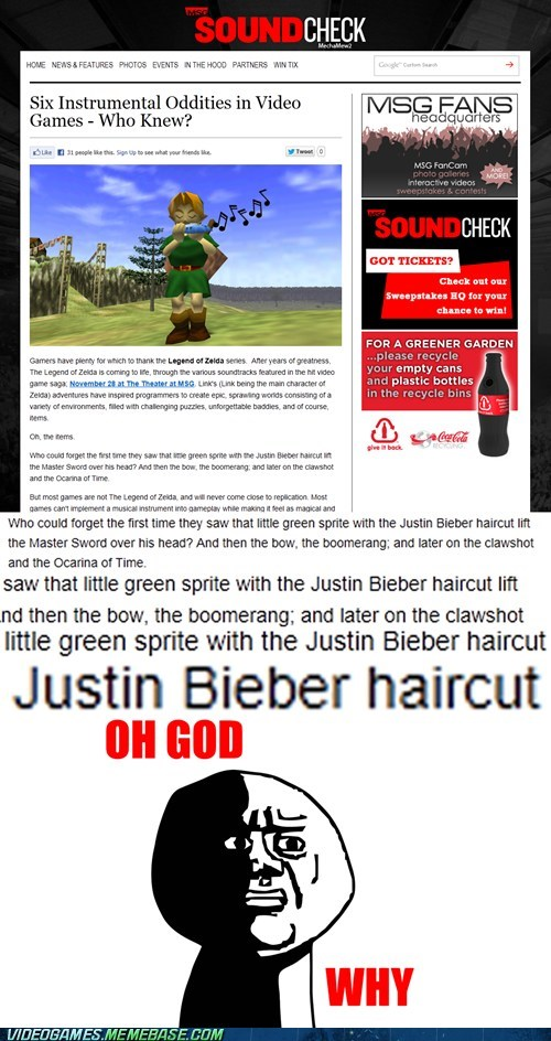 link,oh god why,zelda,justin bieber
