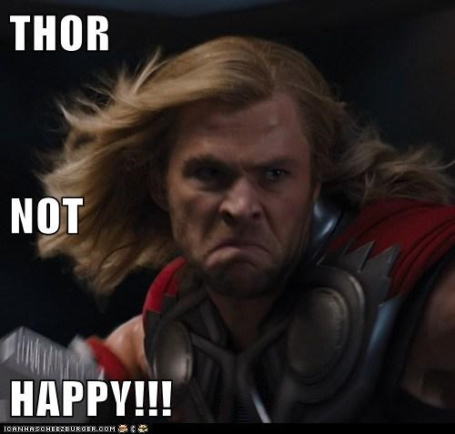 Thor The Avengers dumb chris hemsworth not happy - 6832600832