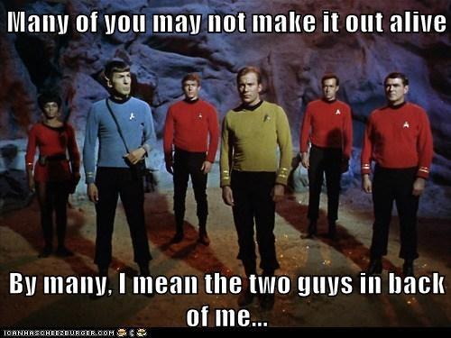 Captain Kirk scotty Spock uhura red shirts Leonard Nimoy Star Trek alive William Shatner back Shatnerday james doohan Nichelle Nichols - 6832684544