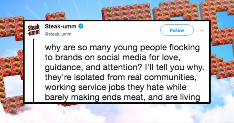 steak twitter speech rant strange interesting snacks Beef food young internet millennials youth social media - 6832901
