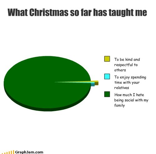 relatives christmas family holidays Pie Chart