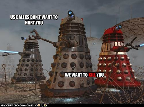 hurt,clarification,daleks,doctor who,kill