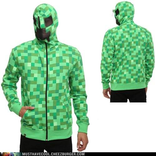 hood creeper mask hoodie minecraft weird - 6833366784