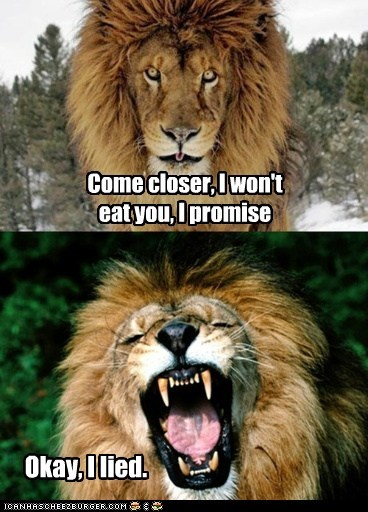 lions promise lied roar closer eating you - 6833704448