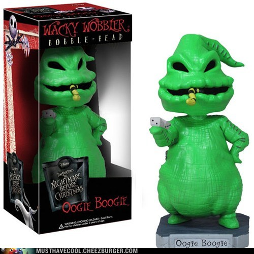 the nightmare before christmas oogie boogie bobblehead - 6834091264