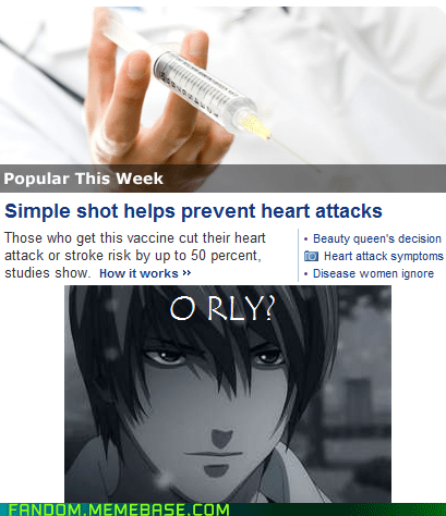 heart attacks,anime,death note