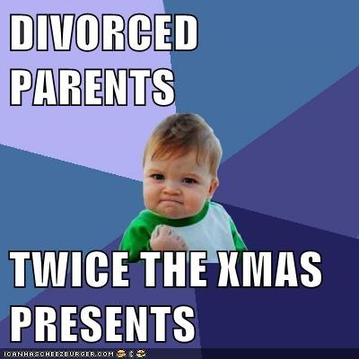 DIVORCED PARENTS TWICE THE XMAS PRESENTS