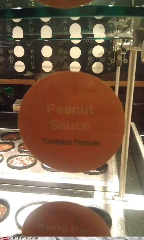 doi contains peanuts figured out peanut sauce monday thru friday g rated - 6834793984