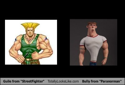 "Guile from ""StreetFighter"" Totally Looks Like Bully from ""Paranorman"""