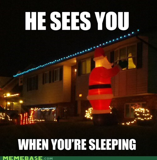 creepy santa holidays jingle memes - 6835256576