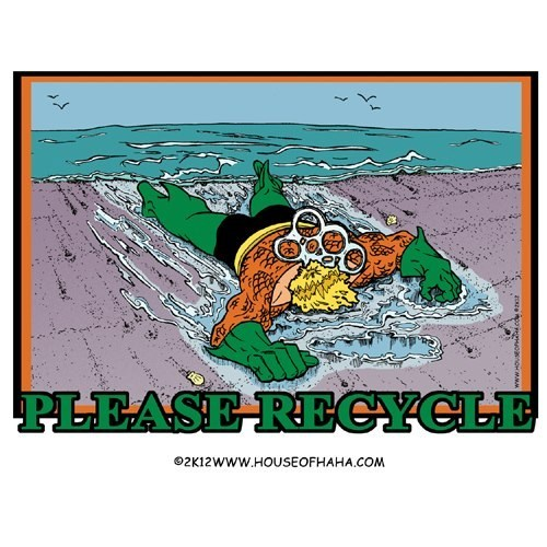 recycle,aquaman,plastic