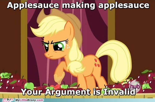 applejack,applesauce,argument