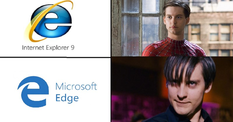 drakeposting funny memes internet explorer vs microsoft edge trending memes know your meme microsoft internet explorer drake memes bowsette dr phil technology edgy Spider-Man - 6835717