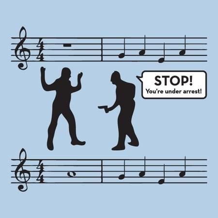 Music pun rest joke - 6836310272