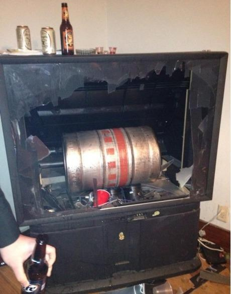 smashed TV drunk accidents keg after 12 g rated - 6836785408