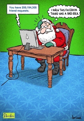 friend requests,santa,santa claus,santa on facebook