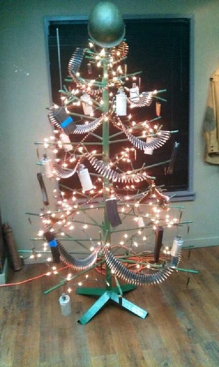 bullet tree christmas tree military bandolier tree marines Marine Corps g rated there I fixed it Hall of Fame best of week - 6836860160
