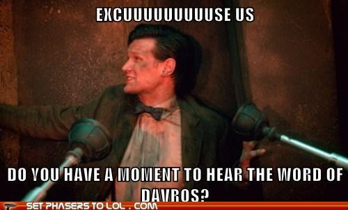 excuse me,evangelists,religion,the doctor,daleks,Matt Smith,doctor who,Davros