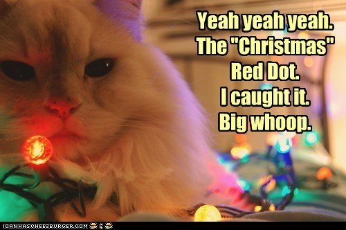 "Yeah yeah yeah. The ""Christmas"" Red Dot. I caught it. Big whoop."