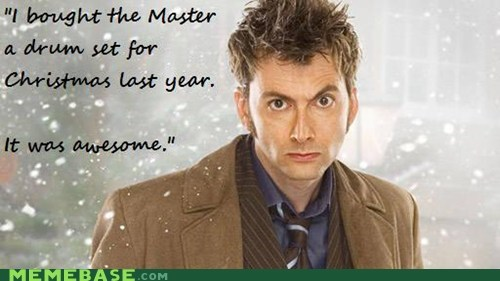 christmas doctor who drums - 6836893184