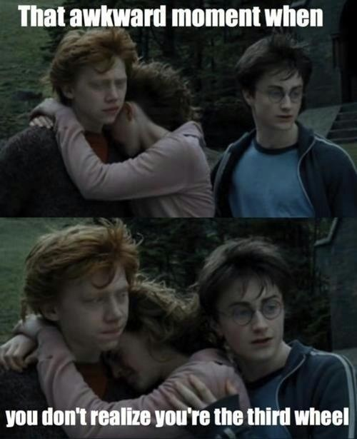 go away,Harry Potter,Awkward,third wheel