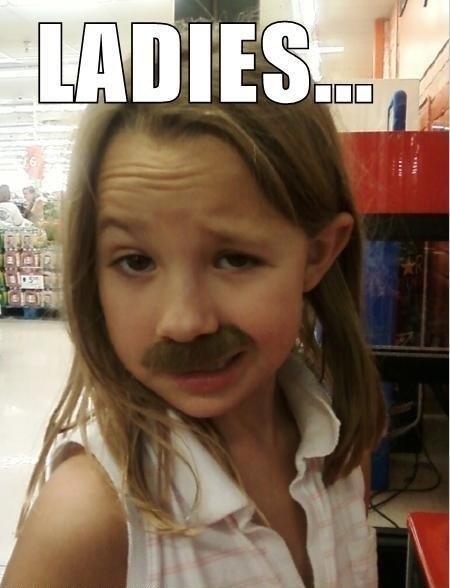 mustache,girl