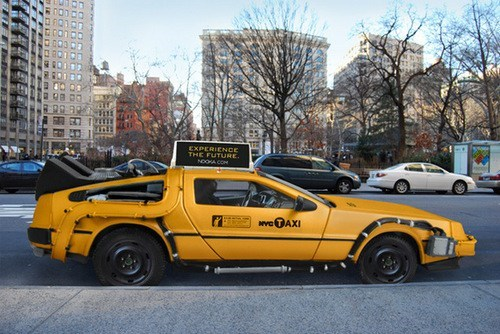 nyc,DeLorean,back to the future,new york city