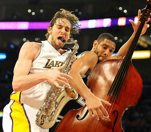 jazz pau gasol tim duncan saxophone bass Music FAILS g rated - 6837035520