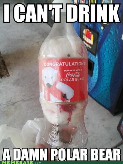 polar bear coke coca cola jingle memes - 6837201920