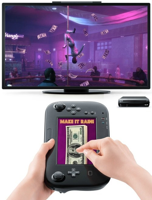 make it rain wii U strippers Grand Theft Auto - 6837340672