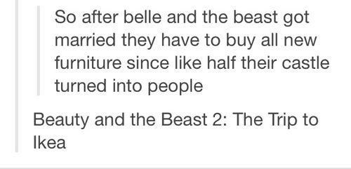 Beauty and the Beast castle ikea - 6837405184