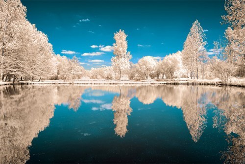photography,infared,reflection,landscape,pretty colors,lake