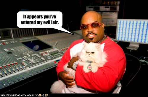 cee-lo green,cat,evil,lair,villain