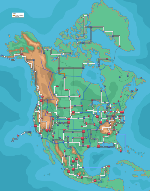 Pokémon MAKE THIS GAME north america town map - 6837466368