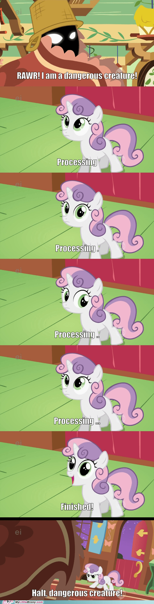 Sweetie Belle,comics,executable,processing