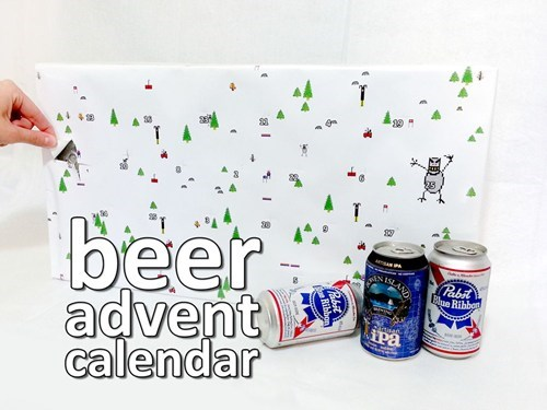 beer calendar advent calendar instructions DIY