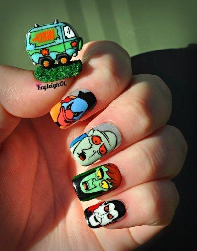 nails scooby doo fashion villains manicure mystery machine style if style could kill - 6837565952