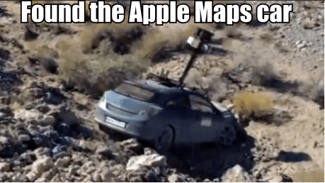car,found it,apple maps