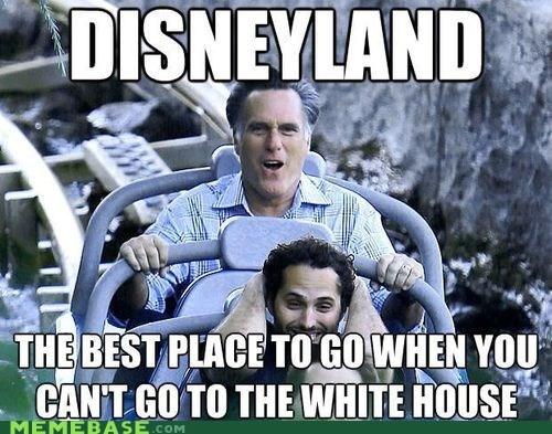 Mitt Romney disneyland politics - 6837674752