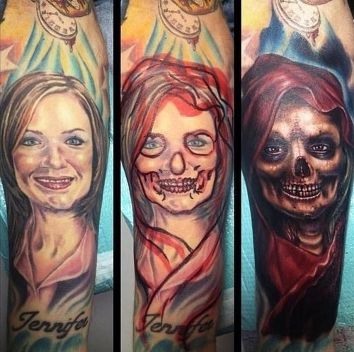 cover up,ex girlfriends,skull,g rated,Ugliest Tattoos